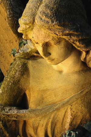 angel silhouette: angel in the sunlight (antique statue)