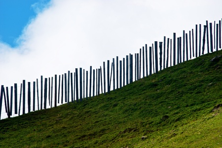aslant: abstract pasture fence