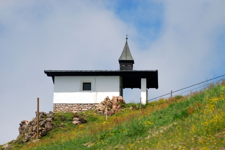 chapel in the mountains Stock Photo - 15257228