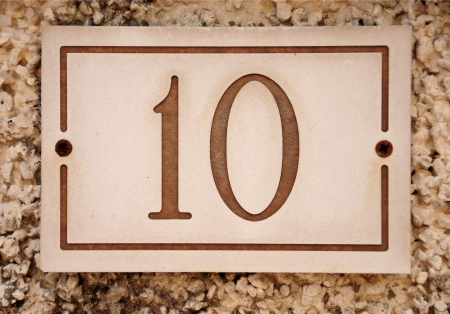 number 10 on a house wall photo