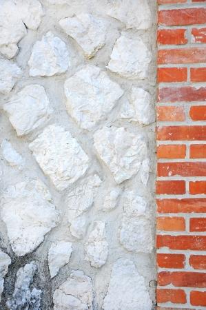 clinker tile: grungy piedra y pared de ladrillo de fondo Foto de archivo