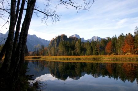 lakefront: mountain lake Stock Photo