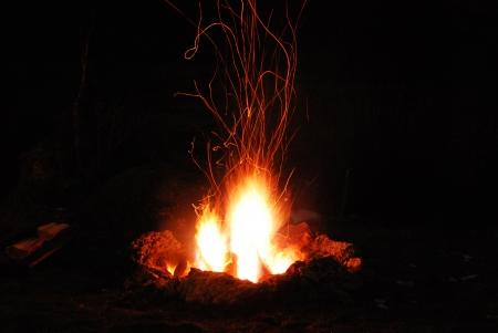 campfire Archivio Fotografico