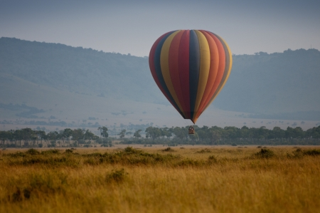 hot air balloon ride in kenya - national park masai mara