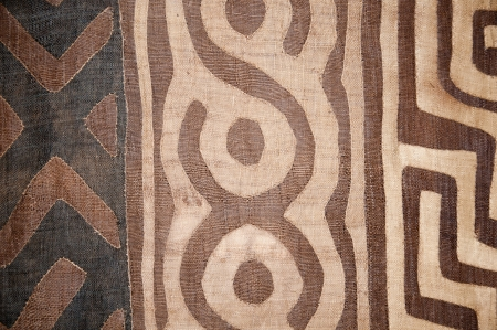 woolen cloth: woven blanket with abstract african pattern