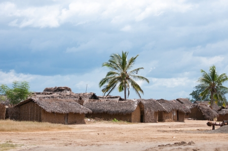 masai village in tanzania - national park saadani