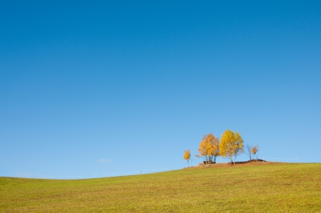reclusion: idyllic rural landscape in autumn
