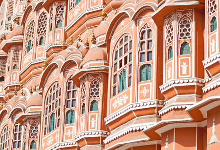 hawa mahal palace of winds in the pink city in india - rajasthan - jaipur