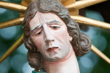 gloriole: closeup of the holy statue maria magdalena