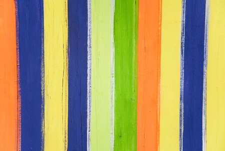 laths: abstract striped rainbow colored wooden panel background Stock Photo