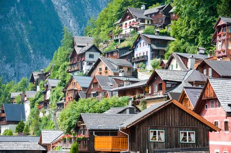 penned: houses in Hallstatt in Austria