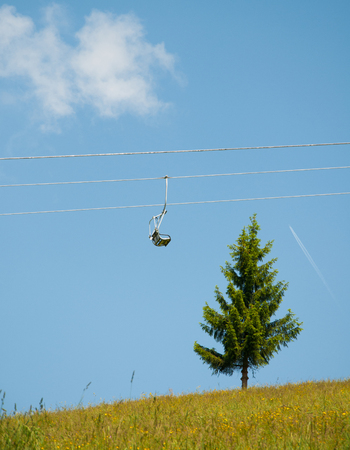 chairlift in the mountains in Tyrol