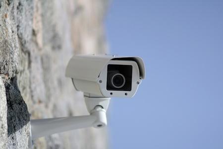 Surveillance Camera Stock Photo