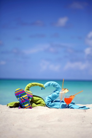 Honeymoon in Tropics. Caribbean beach Stock Photo - 10656594