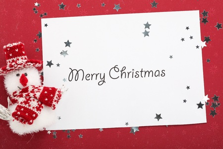 Christmas Card with snowman Stock Photo - 11471234