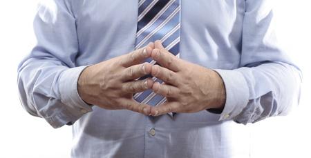 Body language. Thinking Stock Photo