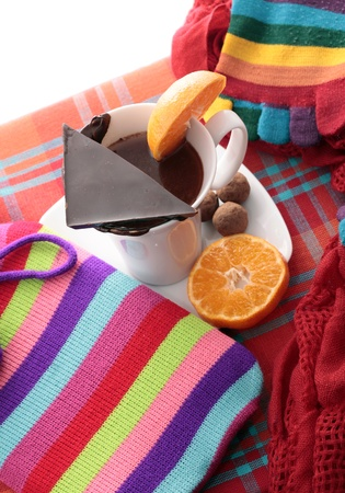 Warming cup of chocolate for winter Stock Photo