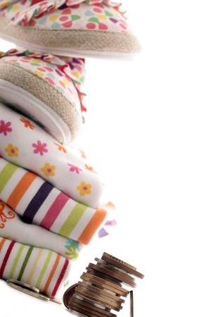 Newborn baby costs Stock Photo