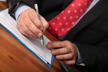 Businessman Plan Schedule Stock Photo