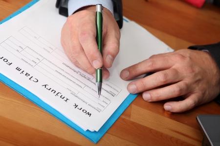 Insurance  Blank work injury claim form