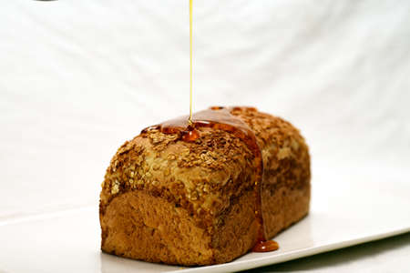 bread with honey healthy Nutritious food 版權商用圖片