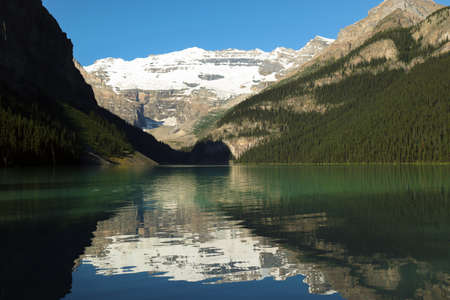 A views of lake and mountain in canada . Travel and Hd wallpapers concept.