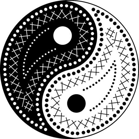 The yin-yang paisley style Vector