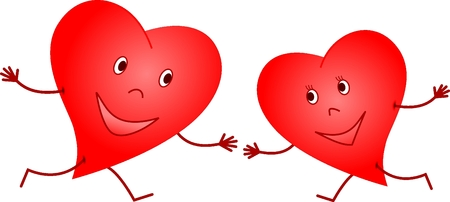 Meeting of hearts Stock Vector - 8258824