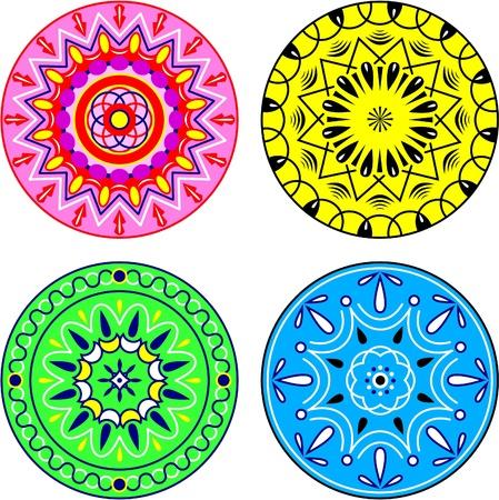 folks: Circular patterns Illustration