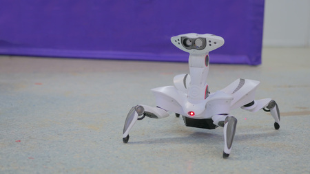 Futuristic robot spider. Exhibition of modern technologies. Future and technology concept Banco de Imagens - 78049875
