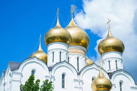 Russian orthodox church, summer time, religion concept