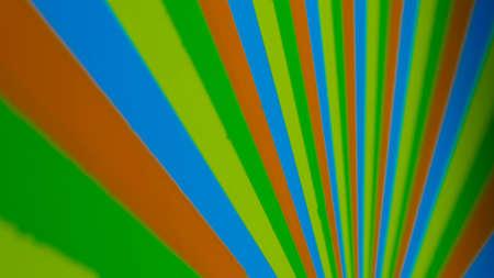 Hypnotic spinning pinwheel - colourful strips. Optical distortion concept Foto de archivo