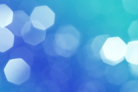 abstract blue heptagon blur bokeh background Stock Photo