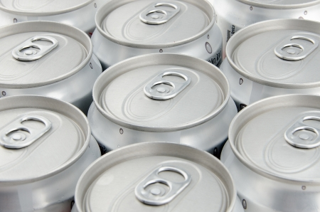unopened: Array of unopened soda can