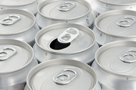 Opened soda can photo