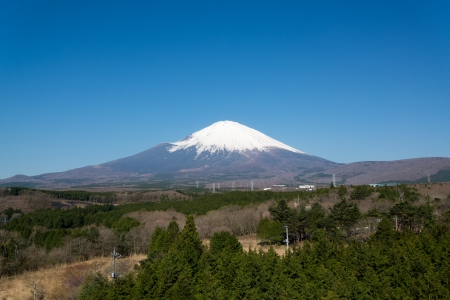 Mount Fuji on Clear Sky Day photo