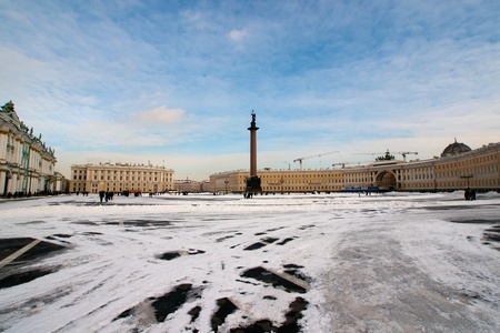 The big Palace Square in st Petersburg photo