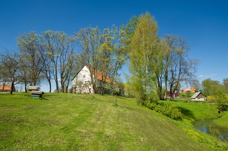 Big beautiful country house for a family Latvia photo