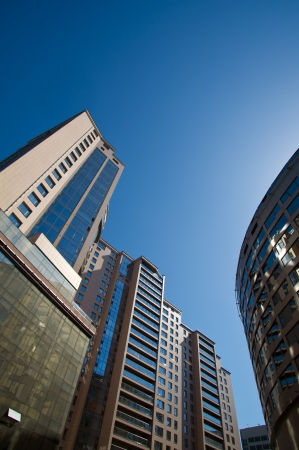 Large and modern business district in downtown Stock Photo - 13852200