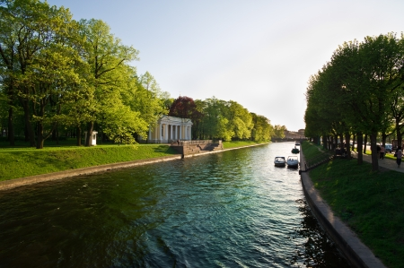 Beautiful summer canals of St. Petersburg. Russia photo