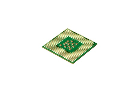 Central processor for the computer on a white background Stock Photo - 13954780
