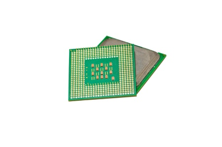 Head processor for the computer on a white background Stock Photo - 13954783