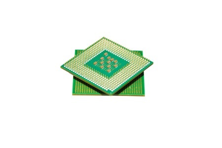 Different processors for the computer on a white background Stock Photo - 13954781