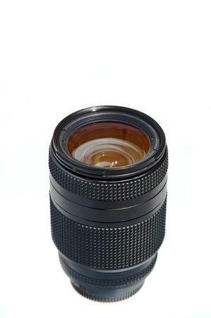 Photo lens for photo camera on a white background Stock Photo - 14088201