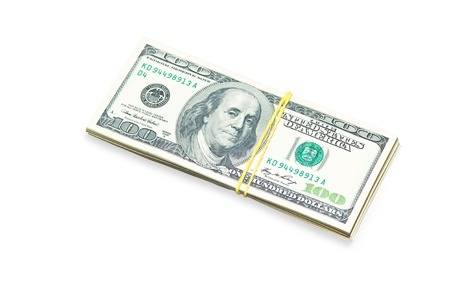 Dollar bills for the business on a white background Stock Photo - 14570193
