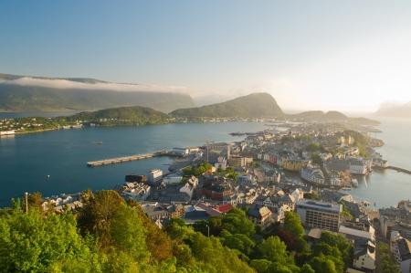 alesund: Alesund city in the sunny day  Norway