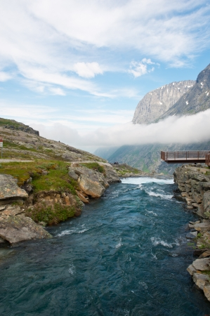 The natural landscape and the mountain rivers of Norway Stock Photo
