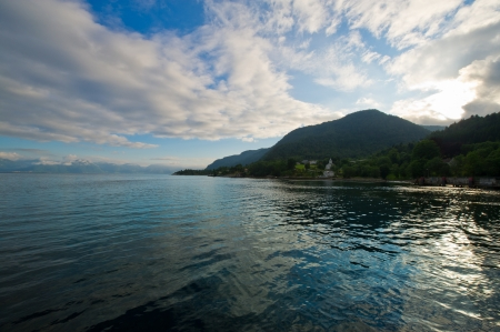 The nature and the beauty of the Norwegian fjords  photo