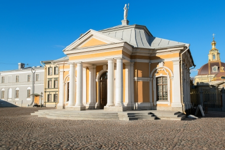 saint petersburg: Peter and Paul Cathedral in Peter and Paul Fortress, Saint Petersburg, Russia