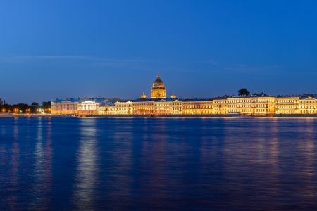 Embankment in St. Petersburg. Views of the City photo